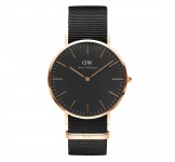Daniel Wellington Classic Black 36mm Cornwall Rosegold