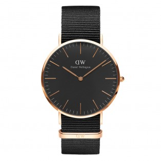 Daniel Wellington Classic Black 40mm Cornwall Rosegold