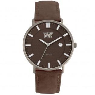 Davis Boston 2074 Titanium Horloge