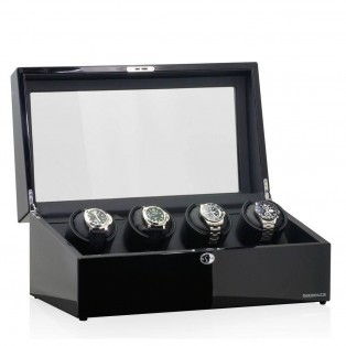 Designhuette Watchwinder Munchen 4 LCD Zwart