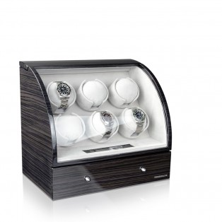 Designhuette Watchwinder Basel 6LCD Dark Oak