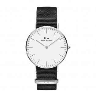Daniel Wellington Classic White 36mm Cornwall Silver