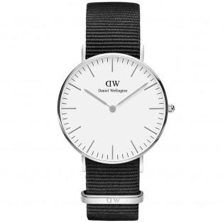 Daniel Wellington Classic White 40mm Cornwall Silver