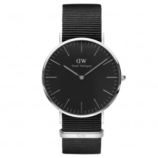 Daniel Wellington Classic Black 40mm Cornwall Silver