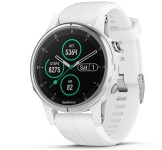 Garmin Fenix 5S Plus 42mm Sapphire wit met witte band