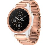 Garmin Fenix 5S Plus 42mm Sapphire wit met rosegoud band