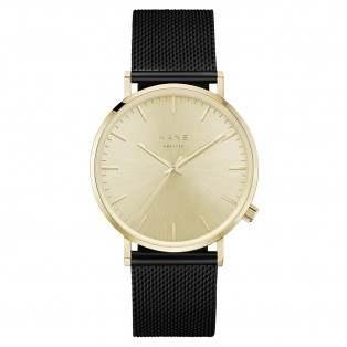 Kane Gold Rush Black Mesh Horloge