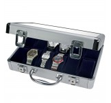 Aluminium Horlogekoffer 12 Blauw