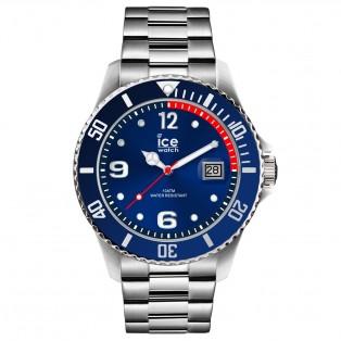 Ice-Watch Ice Steel Medium Blue Silver Horloge