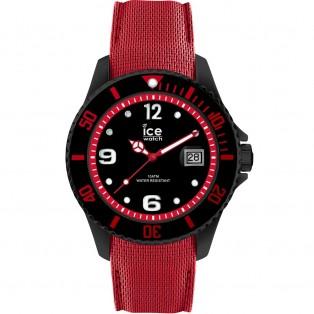 Ice-Watch Ice Steel Large Black Red Horloge