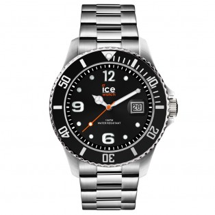 Ice-Watch Ice Steel Large Black Silver Horloge