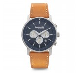Lambretta Imola 44 Blue Leather Tan Horloge