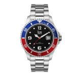 Ice-Watch Ice Steel Large Blue Red Silver Horloge
