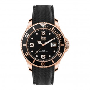 Ice-Watch Ice Steel Medium Black Rosegold Horloge