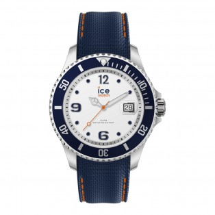 Ice-Watch Ice Steel Large White Blue Horloge