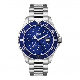 Ice-Watch Ice Steel Medium Blue Swarovski Horloge