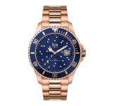 Ice-Watch Ice Steel Medium Rosegold Swarovski Horloge