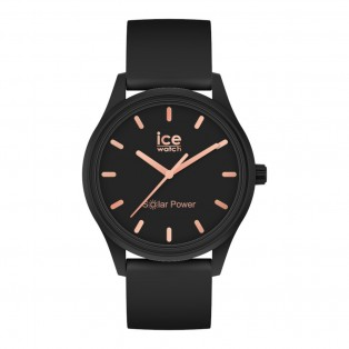 Ice-Watch Solar Small Black Rosegold IW018476