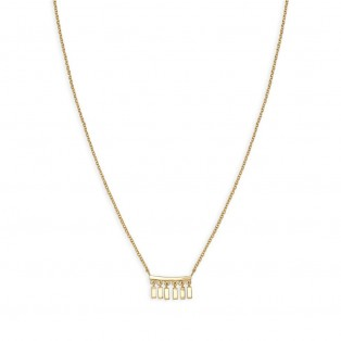Rosefield Iggy Multi Drop Necklace Gold