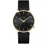 Kane Gold Club Black Mesh Horloge