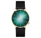 Kane Gold Jade Black Mesh Horloge