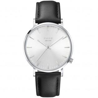 Kane Silver Steel Classic Black Horloge