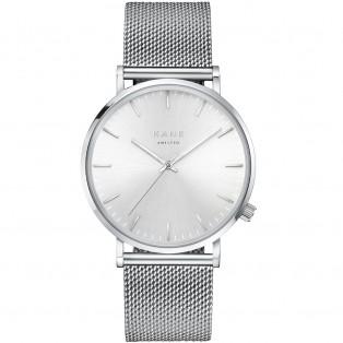 Kane Silver Steel Silver Mesh Horloge