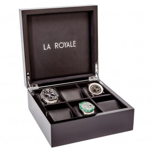 La Royale Felice Horlogekist Hout voor 6 horloges