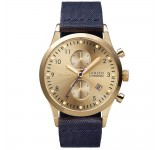 Triwa Gold Lansen Chrono Navy Canvas Classic LCST103