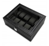 Luxalit Chicago Horlogebox voor 10 horloges Black