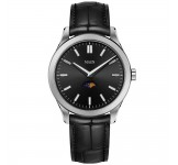 Maen Manhattan 40 Moonphase Jet Black Brushed