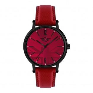Mini 3HD Herenhorloge 43mm Zwart Rood