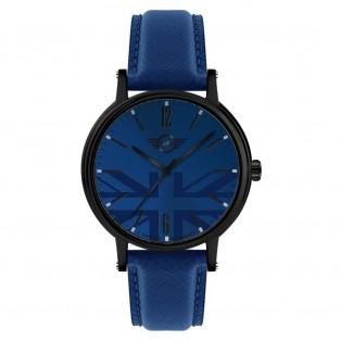 Mini 3HD Herenhorloge 43mm Zwart Blauw
