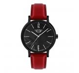 Mini 3HD Horloge 43mm Zwart Rood