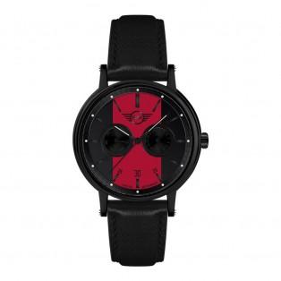 Mini Multi-Function Herenhorloge 43mm Zwart Rood