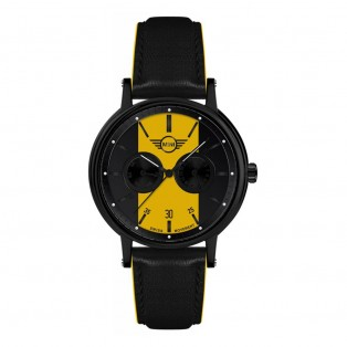 Mini Multi-Function Herenhorloge 43mm Zwart Bruin