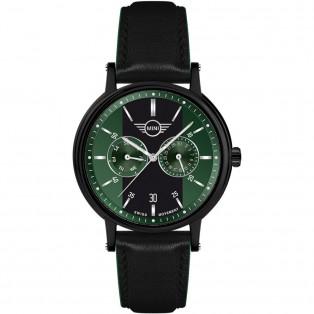 Mini Multi-Function Herenhorloge 43mm Zwart Groen