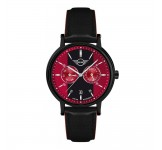 Mini Multi-Function Herenhorloge 43mm Zwart Rood