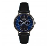 Mini Multi-Function Horloge 43mm Zwart Blauw