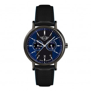 Mini Multi-Function Herenhorloge 43mm Zwart Blauw
