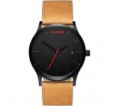 MVMT Classic 45mm Black Tan Horloge