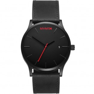 MVMT Classic 45mm Black Leather Horloge