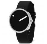 Picto 40mm Zwart Silicon horloge