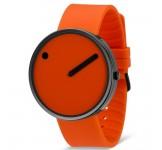 Picto 40mm Zwart Oranje Silicon horloge