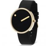 Picto 40mm GP Zwart Silicon horloge