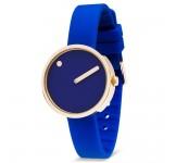 Picto 30mm RGP Blauw Silicon horloge