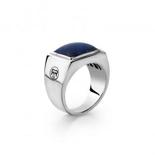 Rebel & Rose Zegel Ring Lapis Lazuli Square 19mm