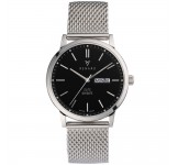 Renard Elite Day Date Black Milanese
