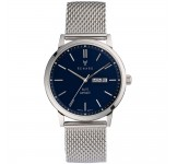 Renard Elite Day Date Blue Milanese