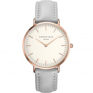 Rosefield the Bowery 38mm White Grey Rosegold BWGR-B9
